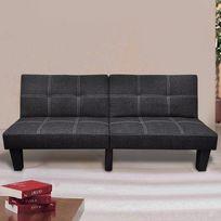Canapé-lit convertible noir