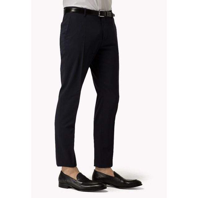 Tommy Hilfiger - Hmt Stssld99004 Bleu Marine - pas cher Achat   Vente Pantalon  homme - RueDuCommerce 20f0abaae816