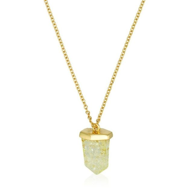 collier femme or fin