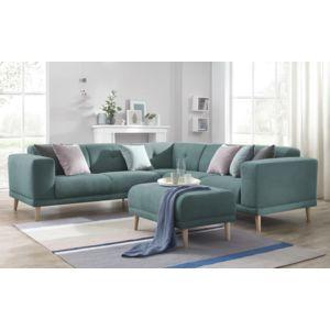 bobochic canape d 39 angle panoramique avec pouf luna bleu canard 246cm x 75cm x 246cm achat. Black Bedroom Furniture Sets. Home Design Ideas