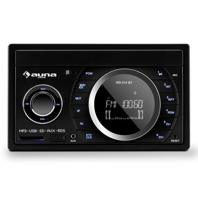 AUNA MD-210 BT Autoradio RDS Bluetooth FM USB SD MP3 AUX 2 DIN 4 x 75W