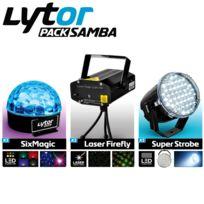 Lytor - Pack Jeux de lumière Strobe Laser Led Samba