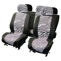 Adnauto - Jeu de couvre-sieges 9pcs -zebre- airbag
