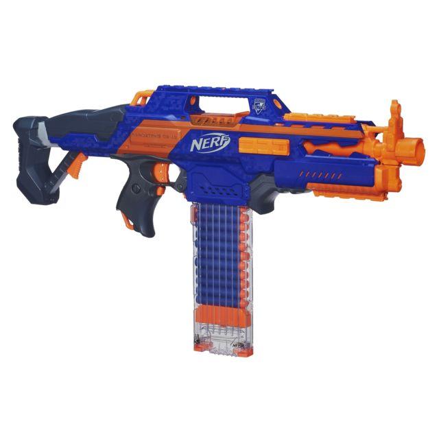 HASBRO Pistolet Nerf Elite Rapidstrike XD - A3901E350 Le Rapidstrike, le seul pistolet 100% automatique de la gamme Elite ! Tire à plus de 27 m !