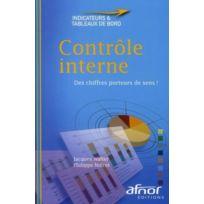 Afnor - contrôle interne ; des chiffres porteurs de sens