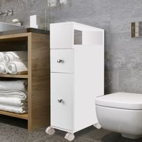 meuble bas wc sur roulettes 2 tiroirs blanc Résultat Supérieur 16 Bon Marché Meuble De Rangement Bas Salle De Bain Photographie 2017 Phe2