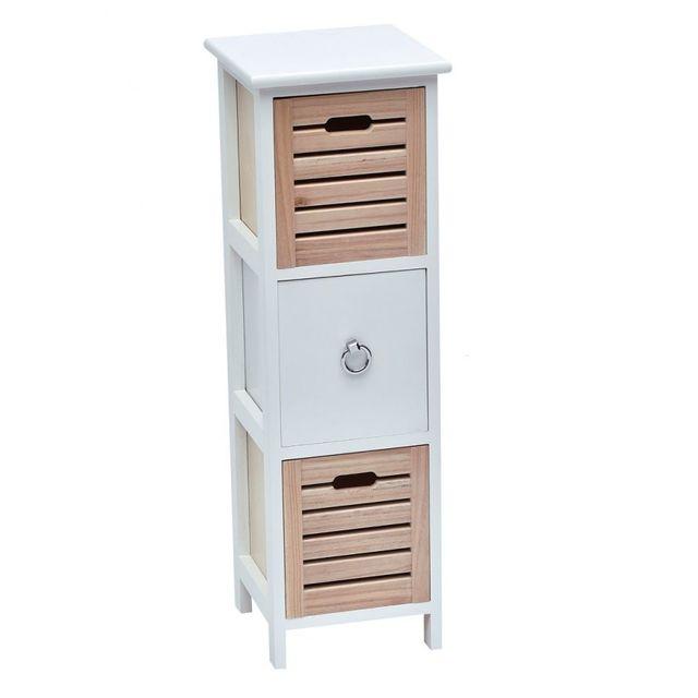 10 sur tendance meuble 3 tiroirs blanc et naturel vendu - Meuble et tendance ...