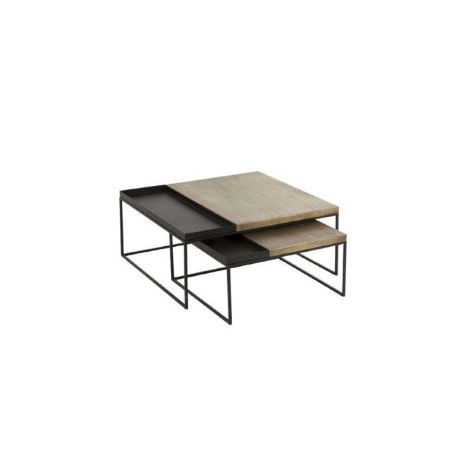 HELLIN Table basse gigogne métal, set de 2 - URBAN