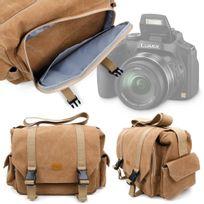 Duragadget - Sacoche beige pour Reflex Panasonic