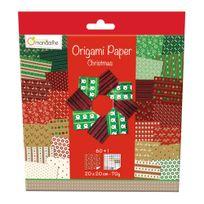 Avenue Mandarine - Pochette 60 Feuilles Origami 20x20 cm - Christmas