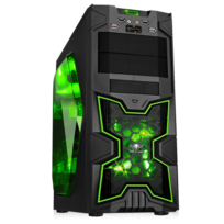 SPIRIT OF GAMER - Boitier PC ATX X-FIGHTERS 41 Green Army