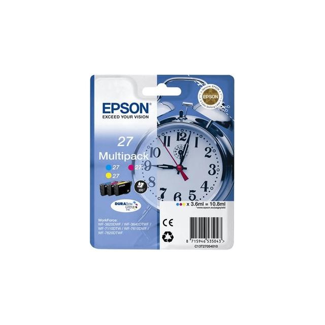 EPSON Cartouche d'encre Jaune, cyan, magenta - C13T27154020