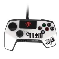 MADCATZ - Manette FightPad Pro Blanc Ryu Street Fighter V, pour PS3/PS4
