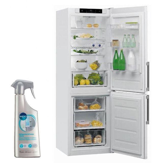 Whirlpool Réfrigérateur frigo double porte blanc 339L A++ Froid brassé LessFrost