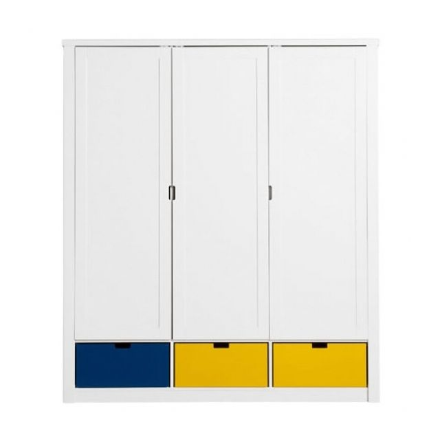 Bopita - Armoire Mix et Match Luxe 3 portes Blanc - 60cm x 201cm x ...