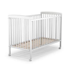 at4 lit b b 60 x 120 cm en bois blanc 60cm x 120cm pas cher achat vente lit enfant. Black Bedroom Furniture Sets. Home Design Ideas