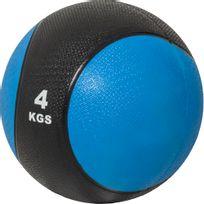 Gorilla Sports - Médecine ball 4kg bleue/noir