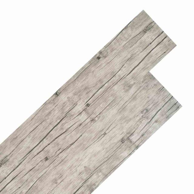 sublime Matériaux de construction famille Maseru Planche de plancher PVC 5,26 m² Couleur de chêne délavé