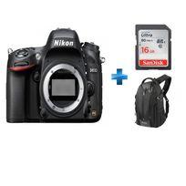 NIKON - Reflex - D610 nu + Carte SDHC Ultra 16 Go + Sac à bandoulière Noir/Orange Vanguard pour reflex