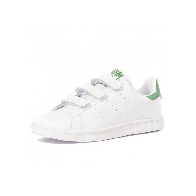 cb6994d32fe79 Adidas - Stan Smith Garçon Fille Chaussures Blanc - pas cher Achat   Vente  Baskets homme - RueDuCommerce