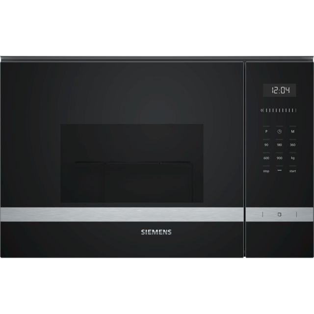SIEMENS micro-ondes grill encastrable 25l 900w inox - be555lms0