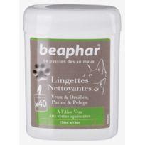 Beaphar - Lingettes nettoyantes yeux et oreilles pour chien et chat 40 lingettes