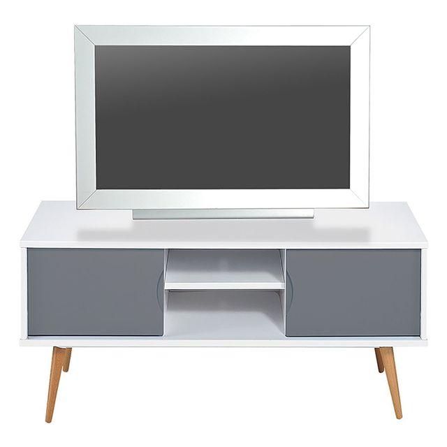 Altobuy Solna - Meuble Tv Blanc et Gris