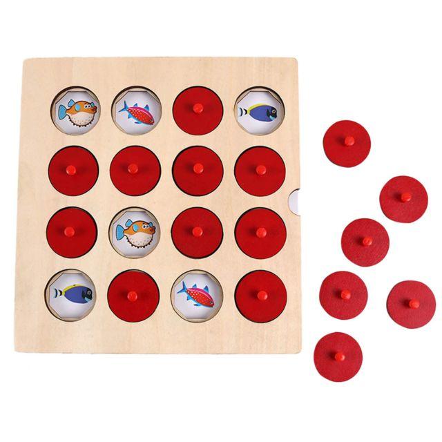 Kid Intelligence IQ Brain Teaser Game Jeu de mémoire en bois Formation logique
