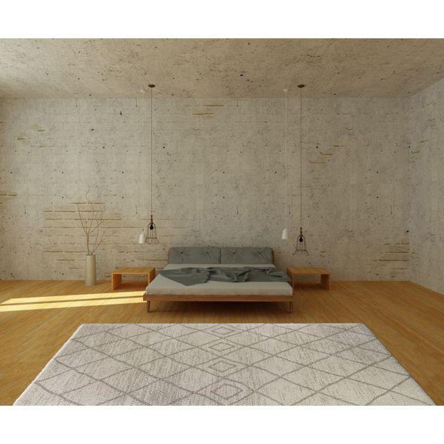 Art For Kids - Tapis Esprit Berbère beige rectangle chambre enfant - Couleur - Beige, Taille - 120 / 170 cm