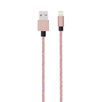 BIGBEN - iPhone Cable lightning tisse - 2m - Rose