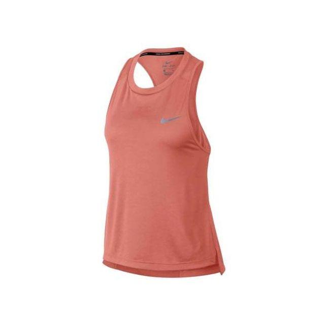 nouveaux styles a0dd6 71f58 Nike - Débardeur Miler Running Tank saumon foncé femme ...