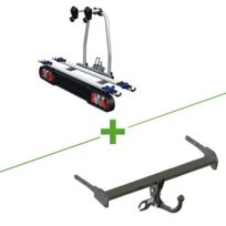 Gdw - Pack attelage et porte vélo col de cygne + faisceau universel 7 broches + Tilting 2