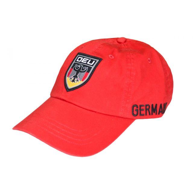 10d1224def62 Ralph Lauren - Casquette rouge Allemagne pour homme Taille unique - pas cher  Achat   Vente Casquettes, bonnets, chapeaux - RueDuCommerce