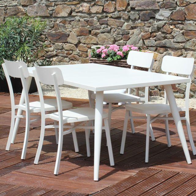 RESIDENCE - Salon de jardin MICA en aluminium - Couleur - Crème ...