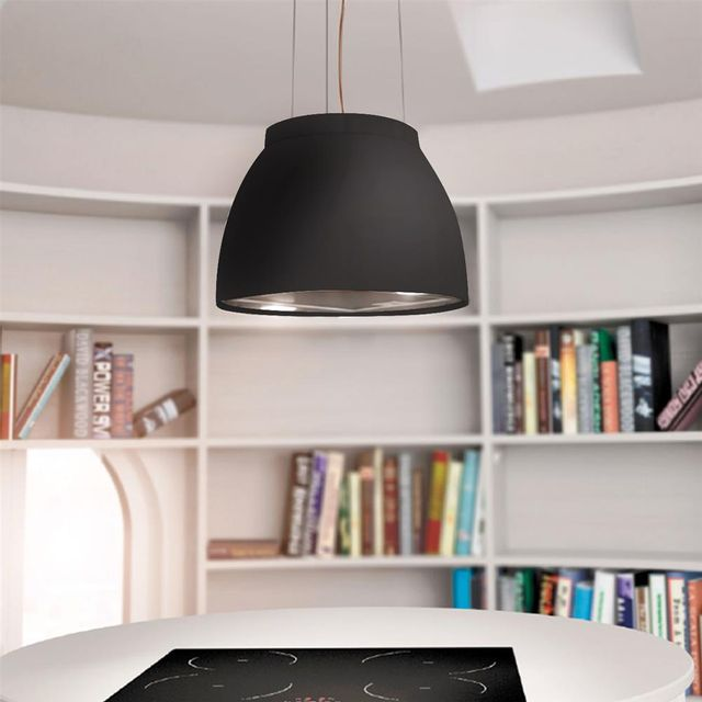 airforce hotte cuisine suspendue noire luna 45 cm achat hotte ilot. Black Bedroom Furniture Sets. Home Design Ideas