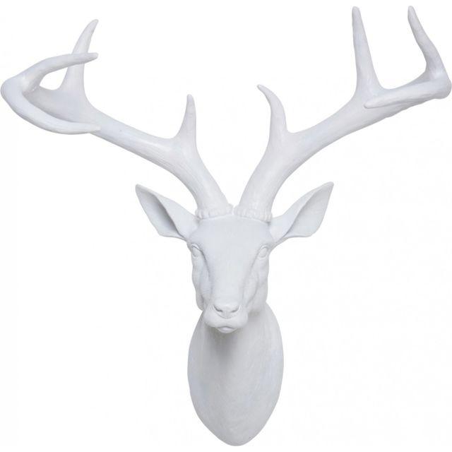 Karedesign Tête Cerf blanc Kare Design