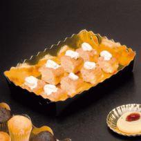 Az Boutique - Barquettes en carton or et noir pour pâtisserie - 16 x 10 x 3,5cm - Lot de 250 - Carton à pâtisserie
