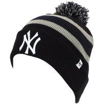 47 Brand - Bonnet à pompon New york yankees black Noir 14041