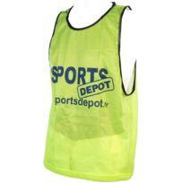 Les Fous Du Foot - Chasuble débardeur Sportdepot jaune chasuble Jaune 72830