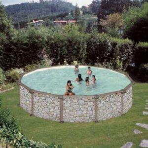 Gr piscine gre d350 h132cm hors sol acier ronde for Achat piscine acier