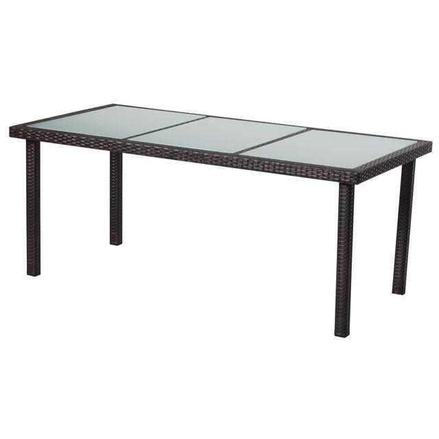 HABITAT ET JARDIN Table de jardin St Tropez 8 - Buffalo - 180 x 90 x 74 cm - Marron