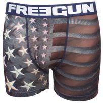 Freegun - Sous vêtement boxer Usa bleu/blc boxer Blanc 59976