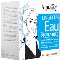 Aquatéal - Lingette eau bronzante visage et corps, Pack de 8 Lingettes - Aquateal