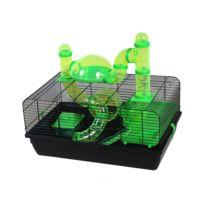 Les Animaux De La Fee - Cage Jerry Noir Et Verte Pour Hamster/SOURIS