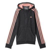 Adidas performance - Essentials 3-stripes Noir Veste à Capuche Enfant Multisports