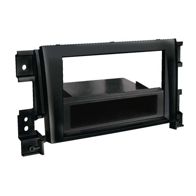 Adaptateur de façade 2-DIN avec vide poche Fiat Idea 2005 /> noir