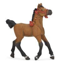 Papo - Figurine cheval arabe en tenue de parade : Poulain