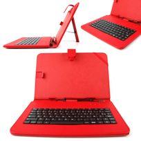 Duragadget - Etui rouge + clavier Azerty pour Archos 101 Platinum, 101 Titanium, 101 Cobalt