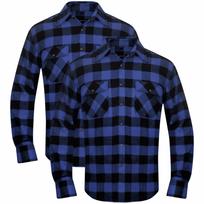Rocambolesk - Superbe 2 Chemises de travails à carreaux Bleu-Noir Taille M neuf