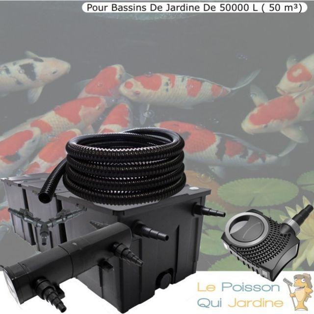 Le Poisson Qui Jardine Kit Filtration Complet, 24W, Pour Bassins Jardin De 50000 litres 50 m
